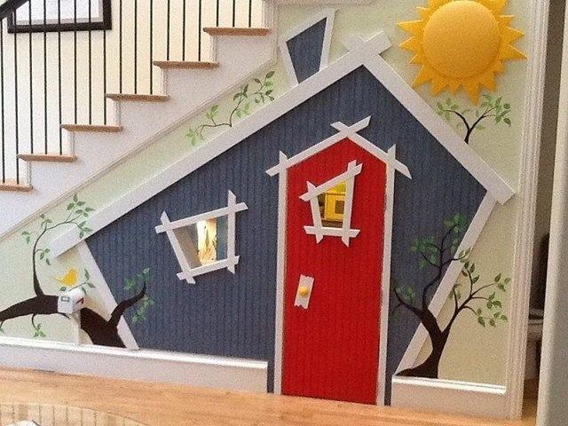 10 Incredible Kids Under Stair Playhouse DIY Ideas2