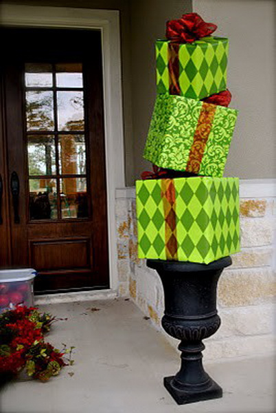 10 ideas of beautifying your outdoor for Christmas homesthetics decor 7