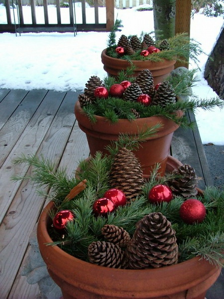 10 ideas of beautifying your outdoor for Christmas homesthetics decor 8