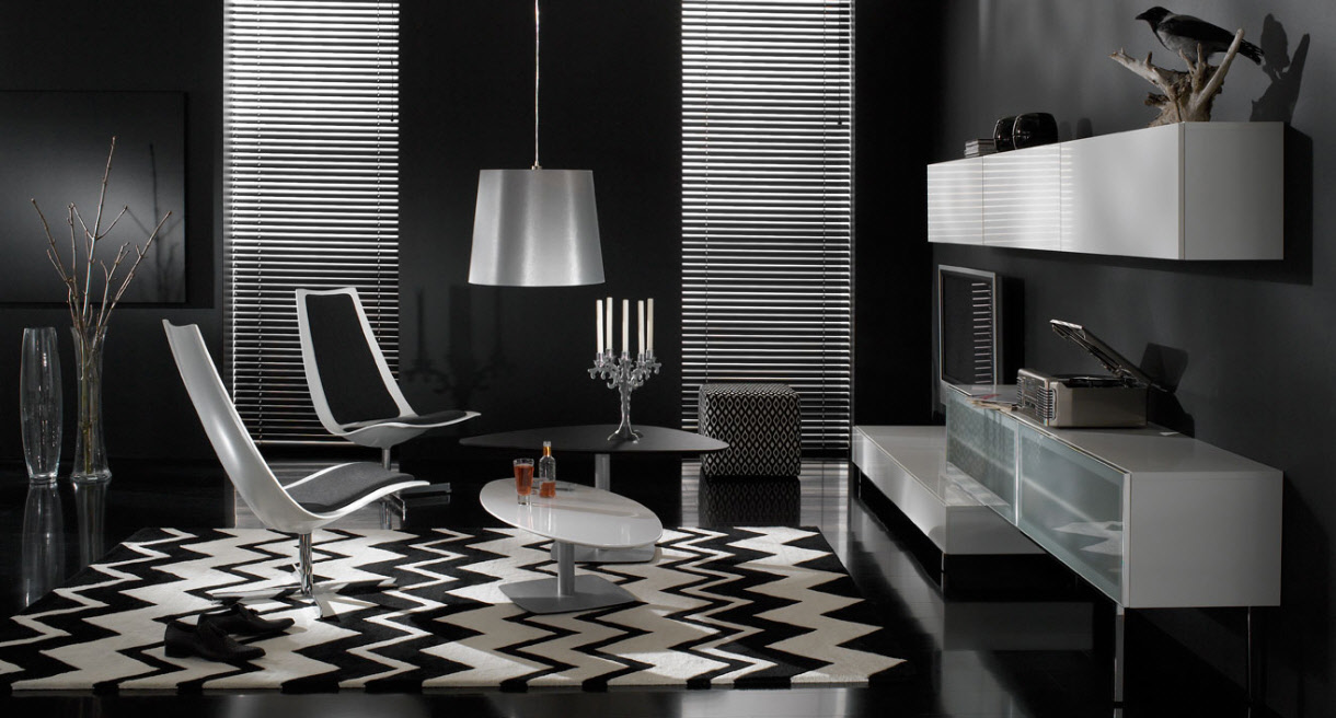 15+ Wonderfull Black and White Interior Designs