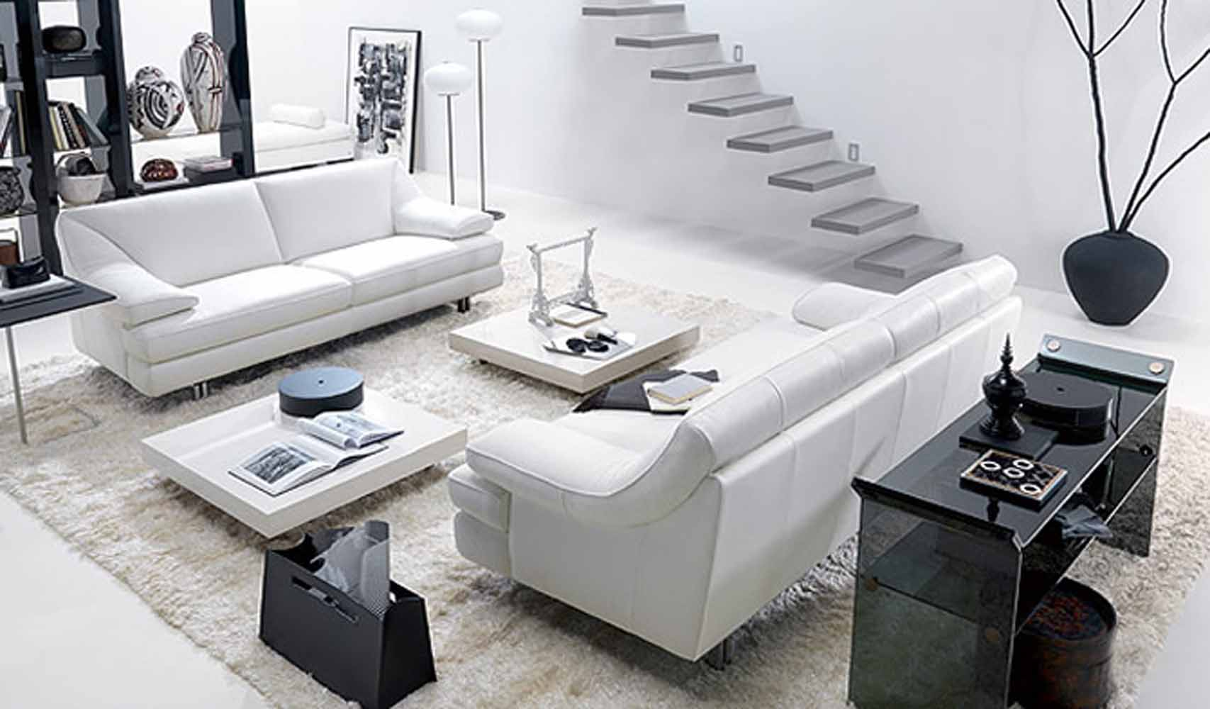 17 Inspiring Wonderful Black and White Contemporary Interior Designs Homesthetics 31