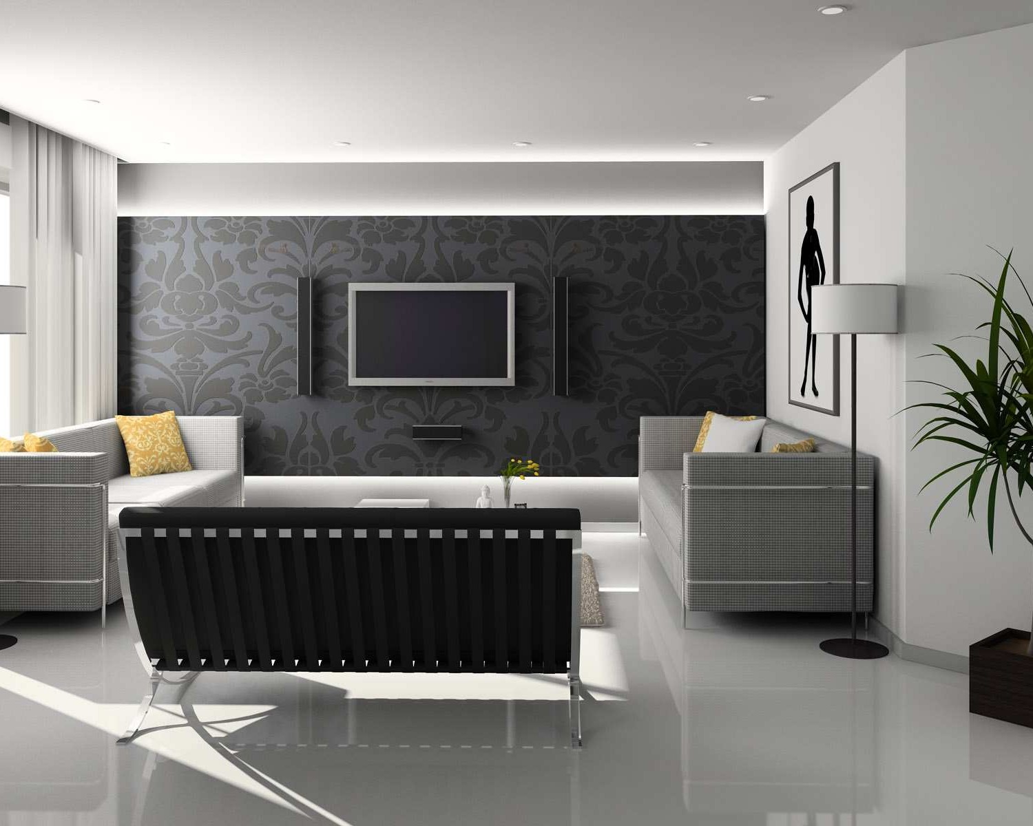 17 Inspiring Wonderful Black and White Contemporary Interior Designs Homesthetics 81
