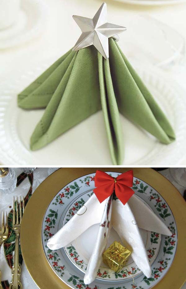 17 Super Delicate Napkin Ideas For Your Christmas Table Setting homesthetics decor 12