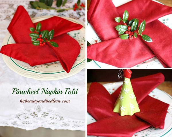17 Super Delicate Napkin Ideas For Your Christmas Table Setting homesthetics decor 13