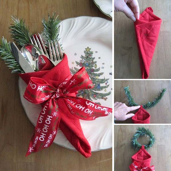 17 Super Delicate Napkin Ideas For Your Christmas Table Setting homesthetics decor 16