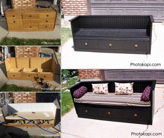 20 Creative Ideas and DIY Projects to Repurpose Old Furniture 3