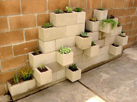 20 Creative Uses of Concrete Blocks in Your Home and Garden 3