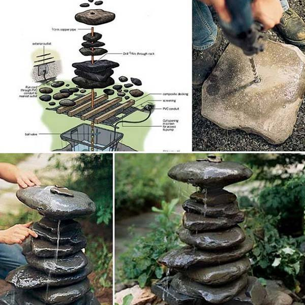 15+ DIY Garden Decorating Ideas with Rocks and Stones