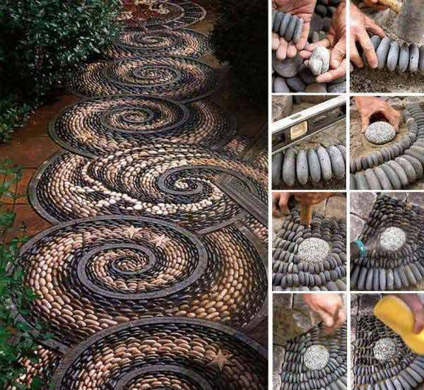 20 Fabulous DIY Garden Decorating Ideas with Pepples and Stones21