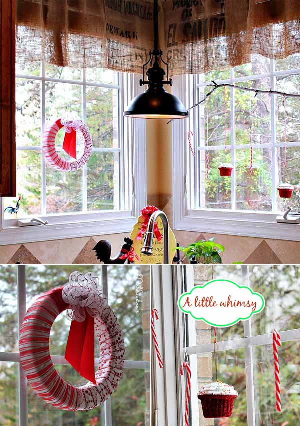 Decorating Ideas For Rentals: 25+ Inspiring Last-Minute Christmas Windows Decorating Ideas
