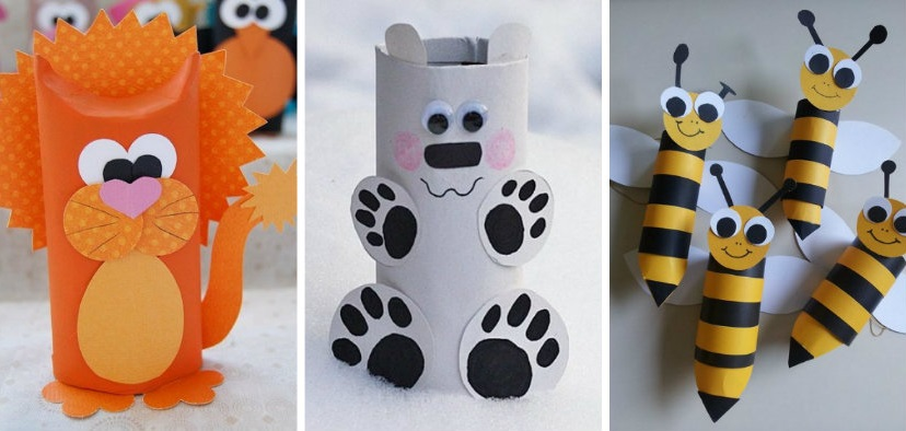 Diy animal craft ideas with toilet paper rolls for Diy using toilet paper rolls