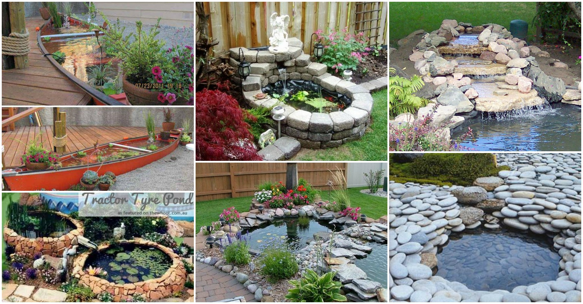 15 diy backyard pond ideas for Fish pond decorations