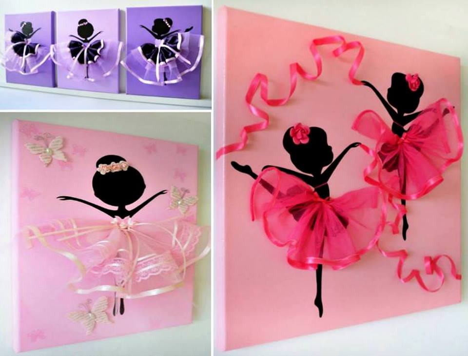 dancing tutu ballerina canvas wall art. Black Bedroom Furniture Sets. Home Design Ideas