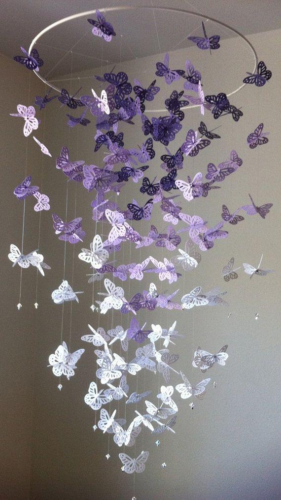 Butterfly Chandelier Mobile DIY Tutorials2