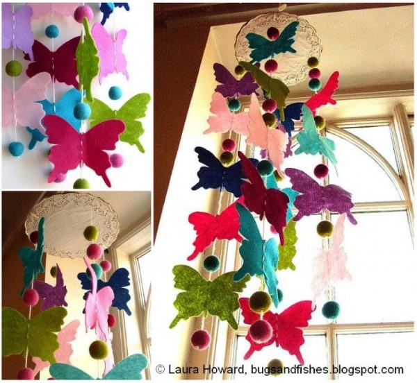 Butterfly Chandelier Mobile DIY Tutorials3 e1428452526412