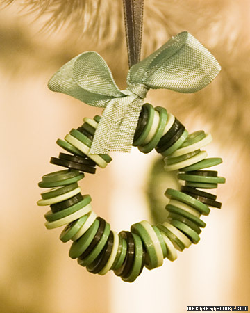 Button Crafts for Christmas Decorations
