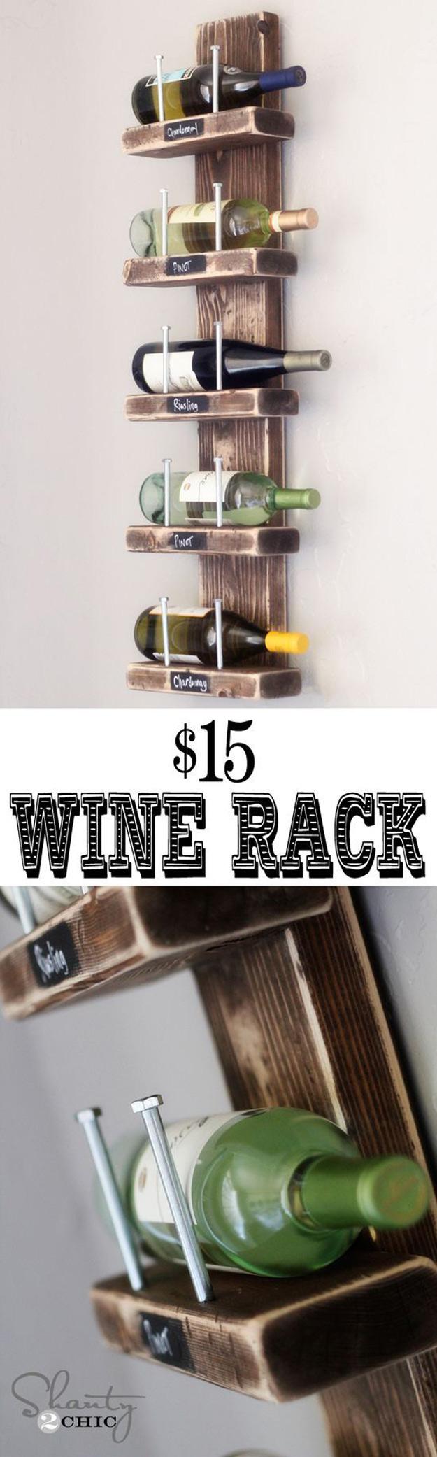 Chalkboard Label Wine Rack