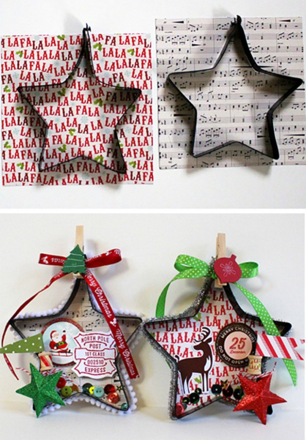 Creative Christmas Ornaments DIY from Cookie Cutters11 e1448994127875