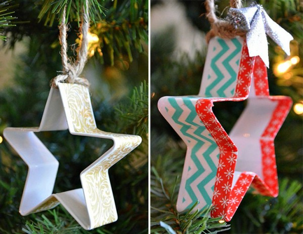 Creative Christmas Ornaments DIY from Cookie Cutters5 e1448994082987