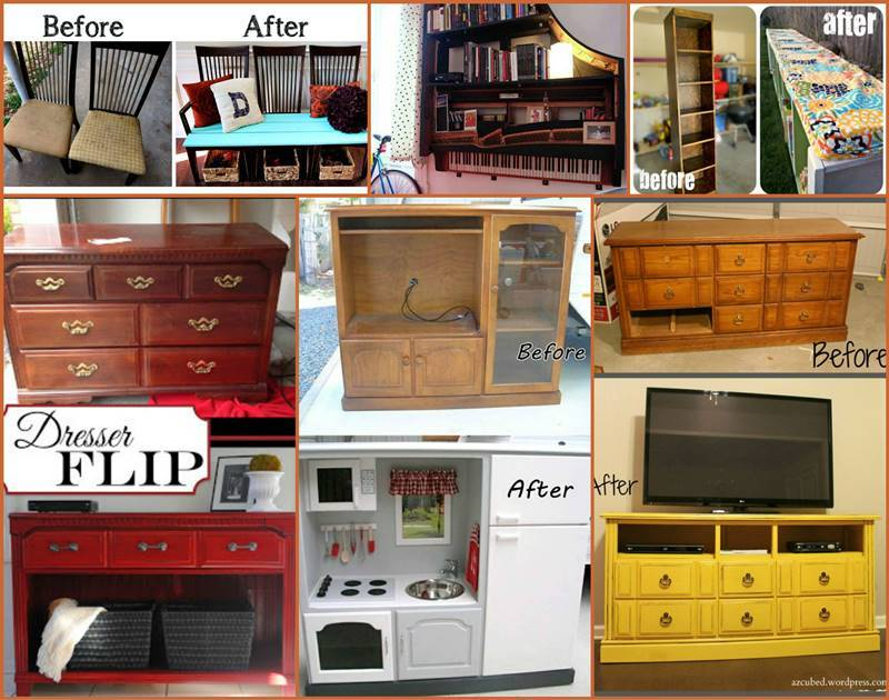 25 creative ideas and diy projects to repurpose old furniture