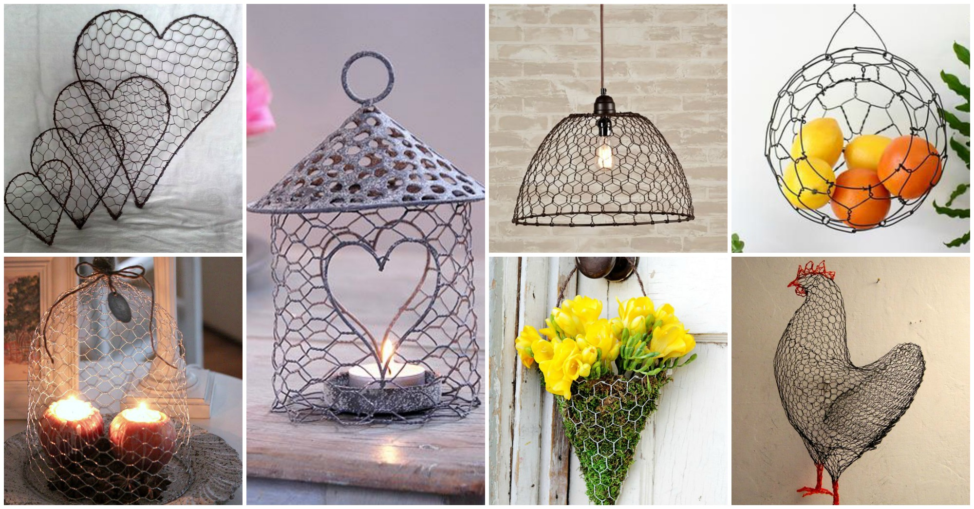 25 diy chicken wire crafts that will fascinate you for Homemade garden decor crafts