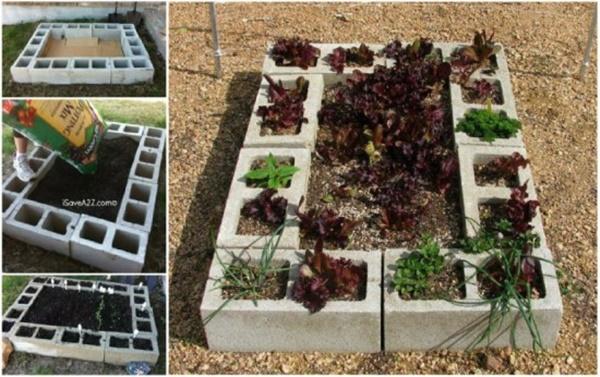 DIY Cinder Block Raised Garden Bed2