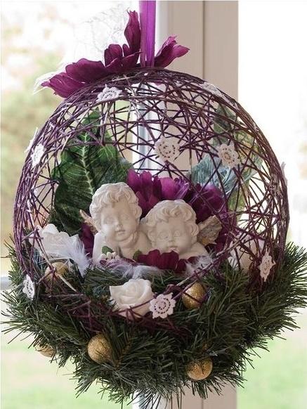 DIY Festive String Ball Basket2
