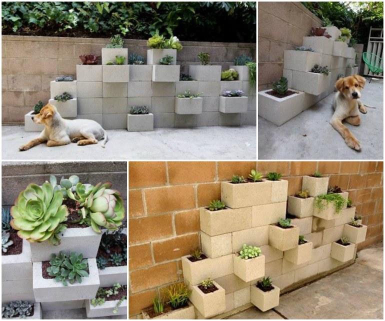 Diy Cinder Block Garden Planter