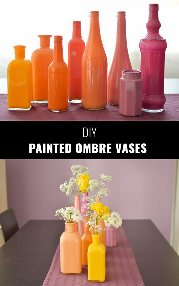 DIY Painted Ombre Vases