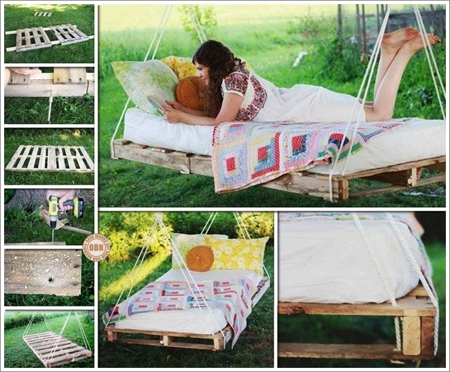 Diy patio and garden swings 20 fabulous ideas for Diy patio bed