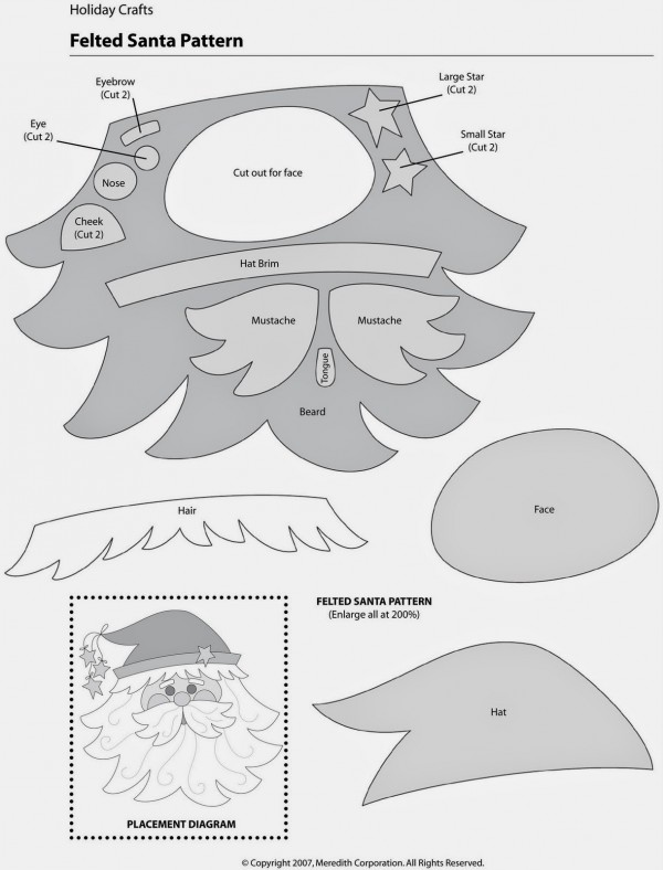 DIY Santa Claus Sewing Patterns and Ideas5a e1449113059637