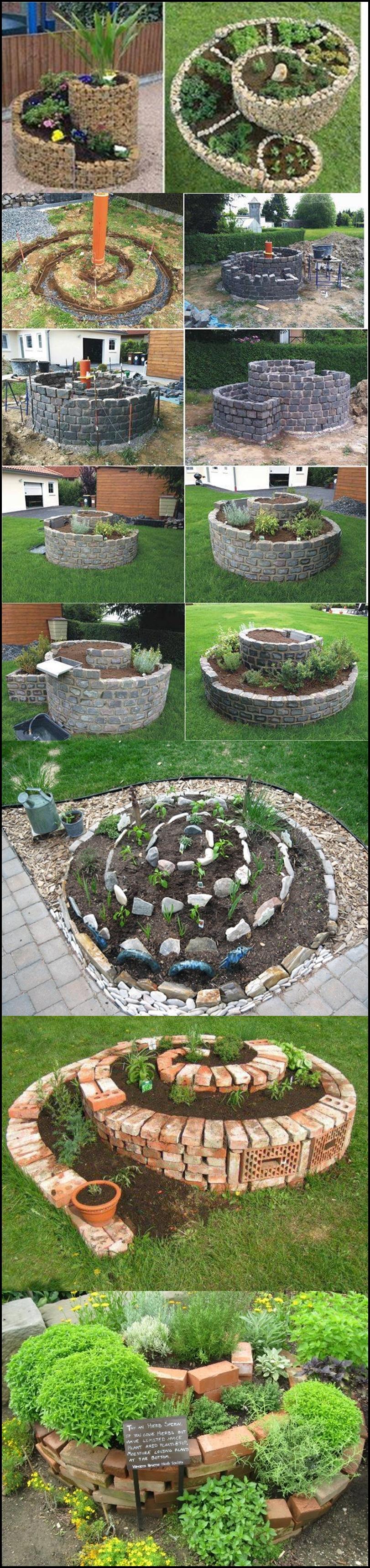 DIY Spiral Herb Garden