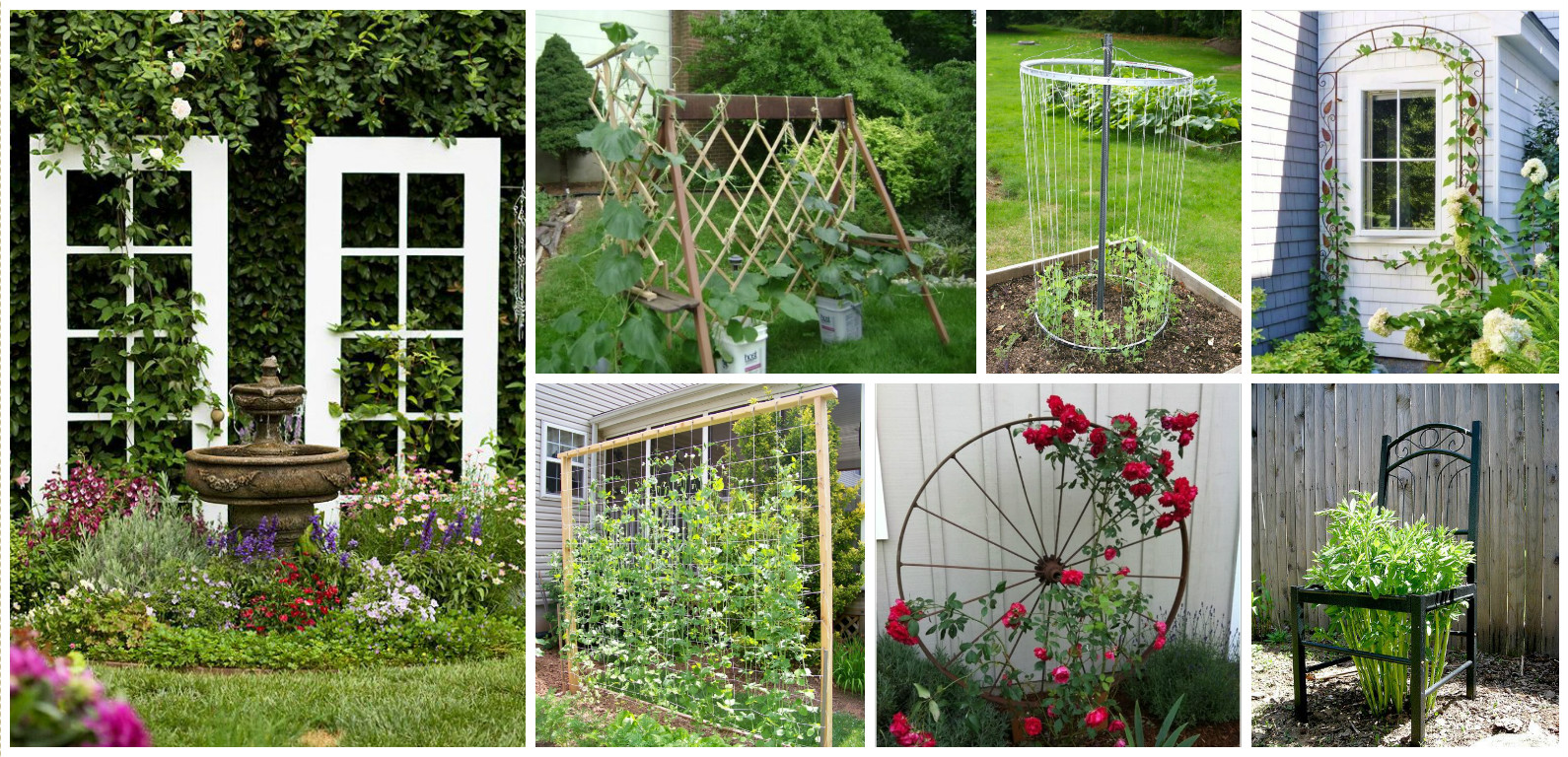10 diy trellis ideas for you garden for Wall trellis ideas