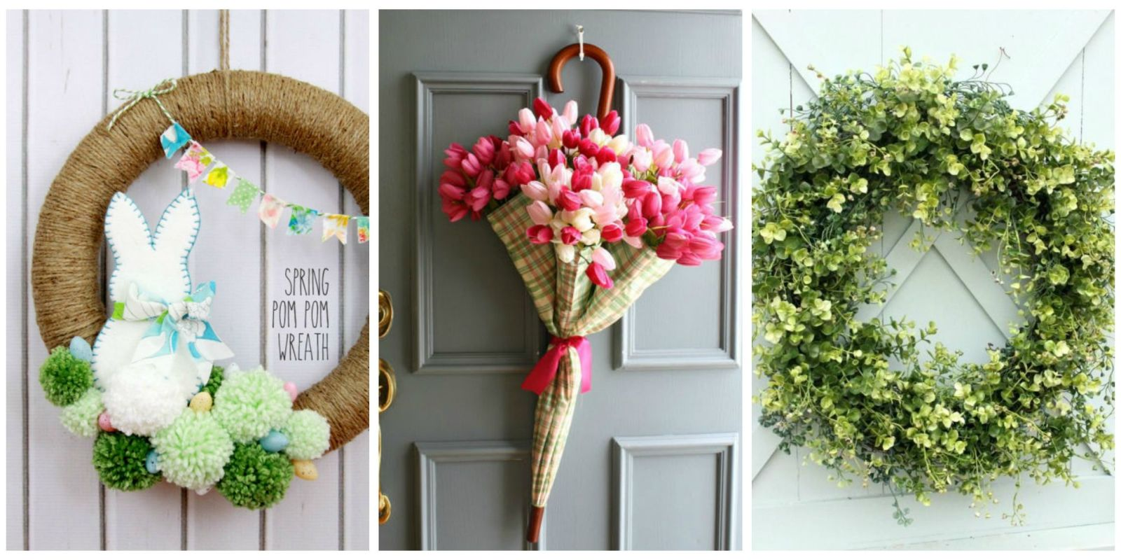 Diy wreath ideas for this spring for How to decorate a christmas wreath
