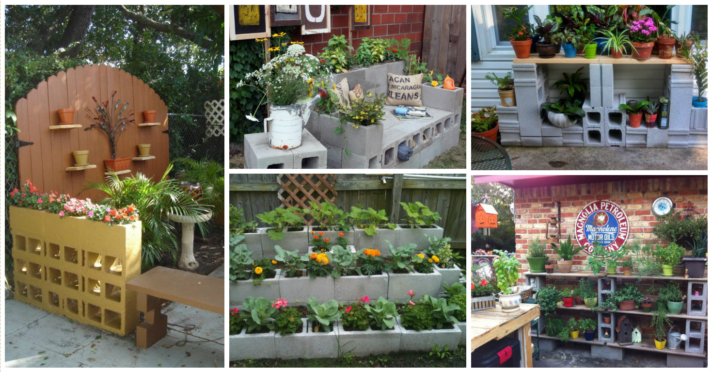 10 inspiring diy cinder block garden for Decoration patio exterieur