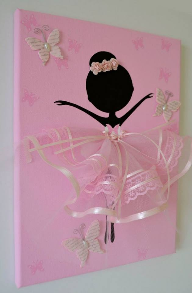 Ballerina Wall Art tutu ballerina canvas wall art