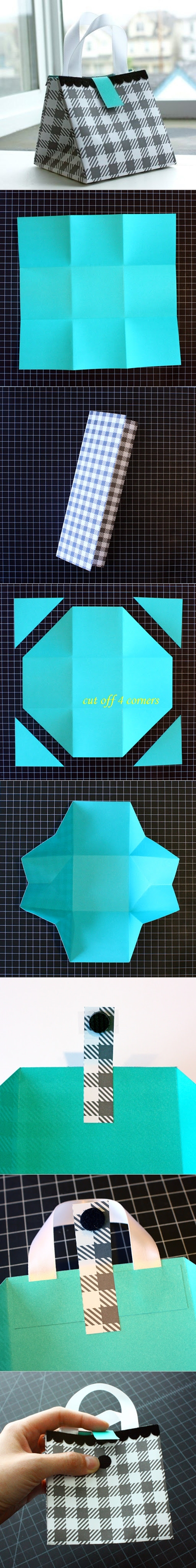 How to DIY Folded Paper Gift Bag