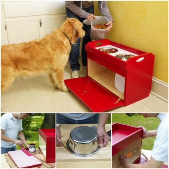 Dog And Cat Feeding Station