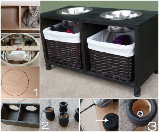 Dog and Cat Feeding Station