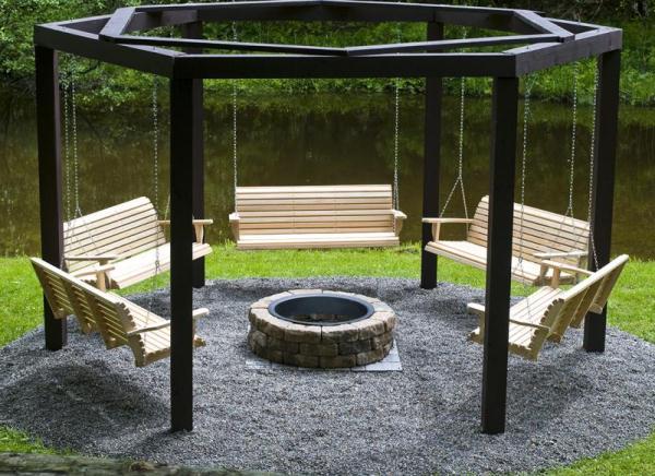 Fabulous DIY Patio and Garden Swings15