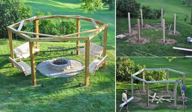 Fabulous DIY Patio and Garden Swings19