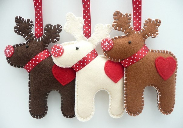 DIY Felt Christmas Ornament from Template