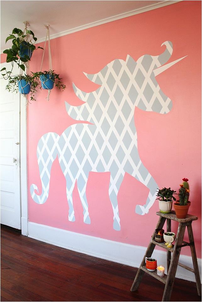 Geometric Unicorn Wall