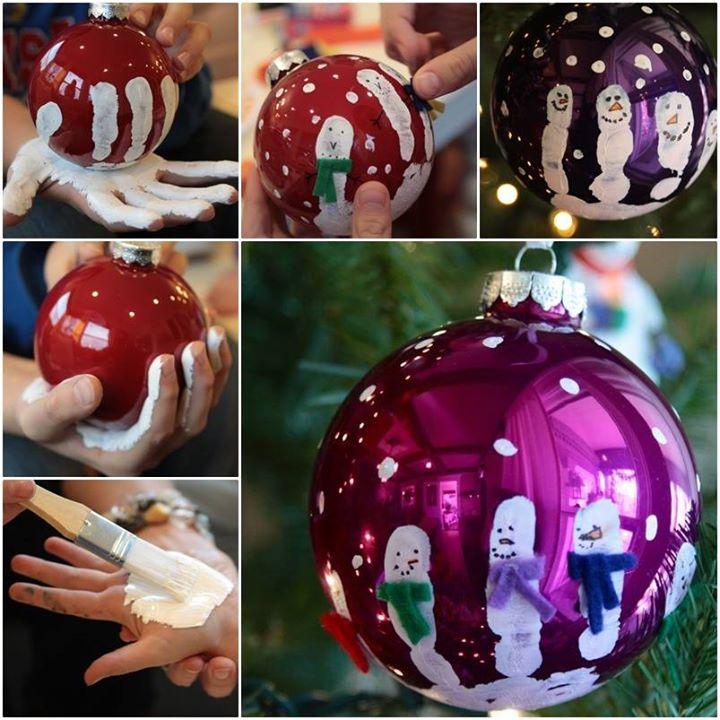 Handprint ornaments DIY F