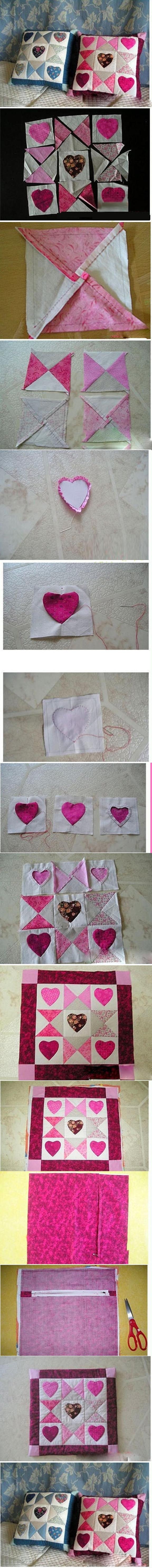 DIY Heart Checker Cushion