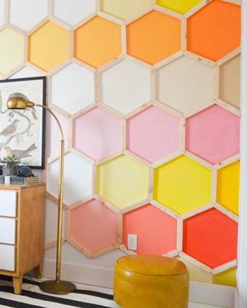 Honeycomb Hexagon Wall Treatment