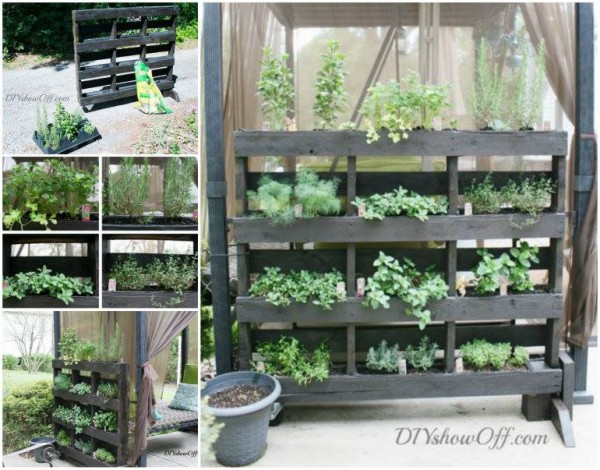How to DIY Free Standing Pallet hern planter e1430167032212