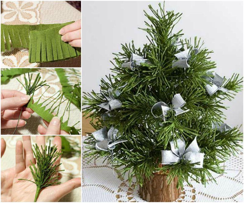 DIY Cute Mini Paper Christmas Tree