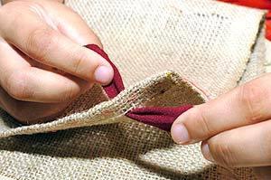 DIY Simple Rug from Fabric Scraps