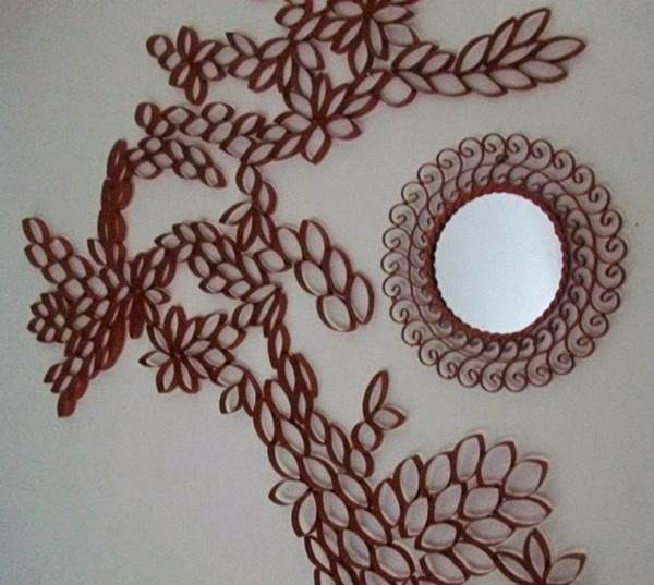 DIY Toilet Paper Roll Flower Wall Art